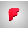 Letter F comic style font EPS10 vector image