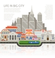 Life In Big City Design vector image vector image