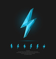 Lightning in polygonal style vector image