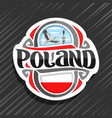 logo for poland vector image vector image