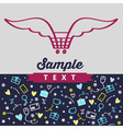 logos symbols and background for online shopping vector image vector image