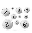 lotto bingo grey balls with numbers vector image