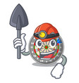 miner dartcoard isolated with in the character vector image vector image