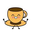 mug porcelain isolated cute kawaii cartoon vector image vector image