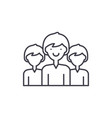 office staff line icon concept office staff vector image vector image