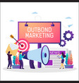 offline promotion business strategy vector image vector image