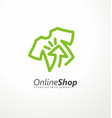 online shopping logo design idea vector image