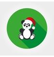 Panda in Santa hat vector image vector image