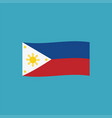 philippines flag icon in flat design vector image