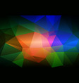 pink green blue low poly background vector image