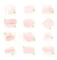 pink watercolor brush stroke splash with luxury vector image