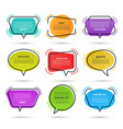 quote speech bubbles isolated on white background vector image