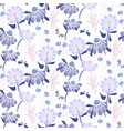 rustic flowers vintage blue purple colors seamless vector image vector image