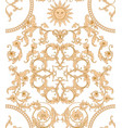 seamless pattern background in baroque vector image vector image