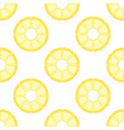 seamless pattern pineapple isolated on white vector image