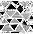 seamless pattern with ethnic tribal boho triangles vector image vector image