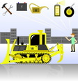 service and diagnostics bulldozer Detalied vector image