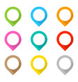 set of colored map pins vector image vector image