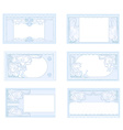 Set of various business cards vector image