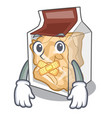 silent pork rinds in character plastic vector image vector image