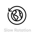 slow rotation globe planet editable line vector image vector image