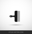 spatula in a flat style with shadow vector image