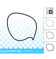 speech bubble simple black line banner icon vector image vector image