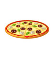 stylized pizza vector image vector image