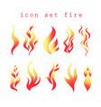 symbols fire vector image