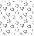 Thumb up seamless pattern vector image