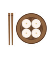 traditional chinese food steamed buns national vector image