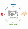 travel infographic design template with place for vector image vector image