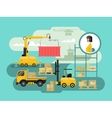 Warehouse logistics concept design vector image vector image