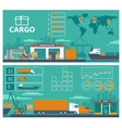 Warehouse ship truck car -Logistic infographics vector image vector image