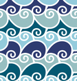 wave sea seamless pattern vector image vector image