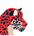 wild jaguar animal on isolated background vector image