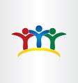 friends kids children friendship concept icon vector image