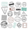 vintage post stamps design collection vector image
