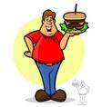 Burger Guy vector image