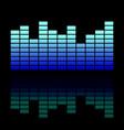colorful musical equalizer showing volume on black vector image