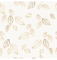 Golden falling leaves vector image