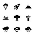 9 sky icons vector image vector image