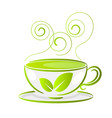 a cup of tea isolated on white background vector image vector image