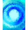abstract polygonal blue background or frame vector image vector image