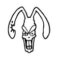angry rabbit vector image vector image