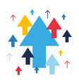 arrows up increase and success business vector image vector image