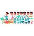 asian boy kindergarten kid animation vector image vector image