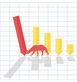 bearl trend on stock market vector image