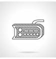 Bike dashboard line icon vector image vector image