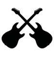 black silhouettes of electric guitars vector image
